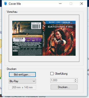 Download: Cover Me – Programm zum Drucken von Bluray DVD und CD
